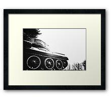soviet tank Framed Print