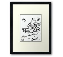 Flying Car Apes Framed Print