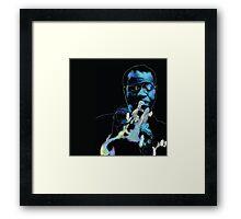 Louis Armstrong Illustration and Line Drawing Framed Print