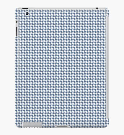 Classic Houndstooth in Riverside Blue and White iPad Case/Skin
