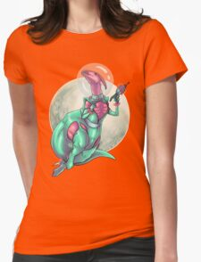 Parasaurolophus: Queen of the Galaxy Womens Fitted T-Shirt