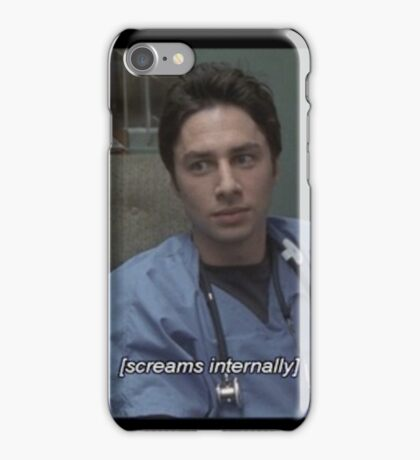 JD screams internally iPhone Case/Skin