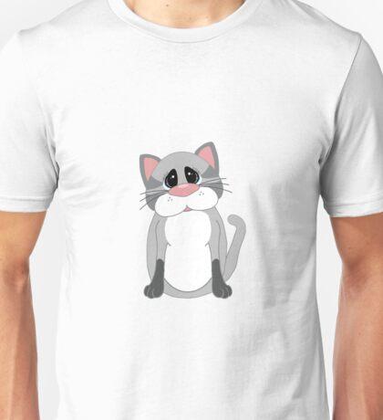 Cute Gray Cat Unisex T-Shirt