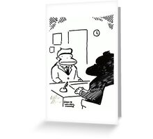 Job Interview Ape Greeting Card