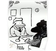 Job Interview Ape Poster