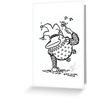 Jester Ape with Rattle Greeting Card