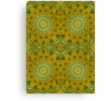 Outdoor pillows-Retro Granny square- mustard seed Canvas Print