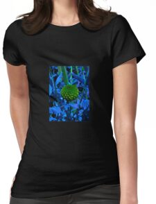 The green ball flower Womens Fitted T-Shirt