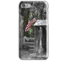 Shelter with Flag iPhone Case/Skin