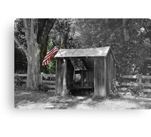 Shelter with Flag Metal Print