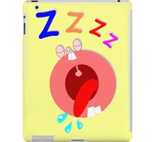 Funny Cartoon Man Sleeping iPad Case/Skin