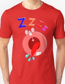 Funny Cartoon Man Sleeping Unisex T-Shirt