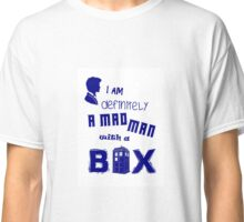 A mad man with a box Classic T-Shirt