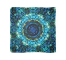 Decorative Textiles -Blue Orb in the water roots Scarf