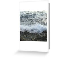 Waves Against the Shore Greeting Card