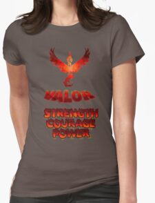 TEAM VALOR Slogan by leesepuffs Womens Fitted T-Shirt