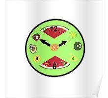 Green Food Clock Poster