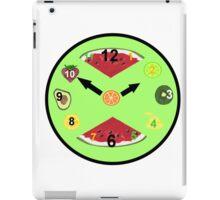 Green Food Clock iPad Case/Skin