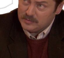 Ron Swanson--Give Me all the Bacon and Eggs You Have Sticker