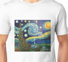Vincent Van Gogh, Starry Night Unisex T-Shirt