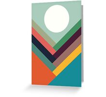 Geometric Rows of Valleys Greeting Card