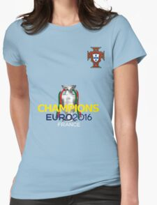 EURO 2016 CHAMPIONS - Portugal Football Team Womens Fitted T-Shirt