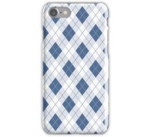 Riverside Blue and White Argyle Check Plaid iPhone Case/Skin