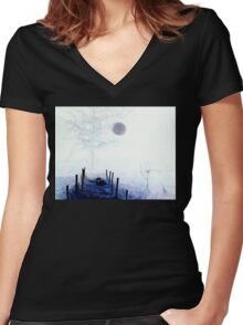 Orb Reporting Photograph # 12 -Color Reversed Women's Fitted V-Neck T-Shirt