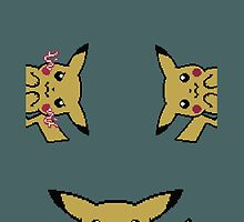 Pixel Pikachu by hentaiologist