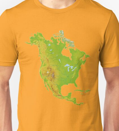 North America Physical Map Unisex T-Shirt