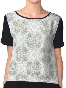 White ornamental textiles-Venus X Chiffon Top