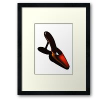 Red Stilletto Shoe Framed Print