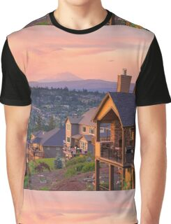 Sunset View from Deck of Luxury Homes Graphic T-Shirt