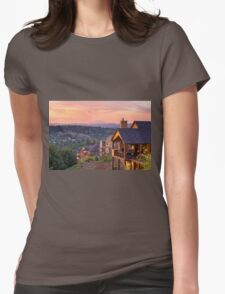 Sunset View from Deck of Luxury Homes Womens Fitted T-Shirt