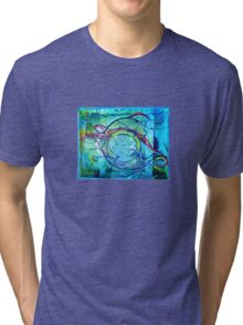 Blue Seaweed Tri-blend T-Shirt