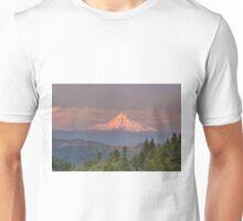 Mount Hood Alpenglow Sunset Unisex T-Shirt