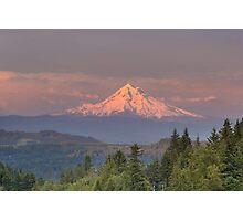 Mount Hood Alpenglow Sunset Photographic Print