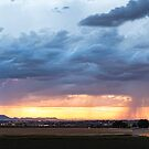 Fort Collins Colorado Sunset Lightning Storm by Bo Insogna