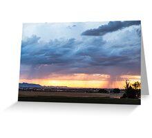 Fort Collins Colorado Sunset Lightning Storm Greeting Card
