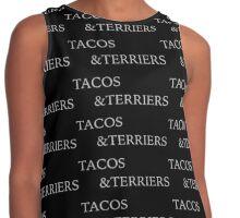Tacos & terriers Black Contrast Tank