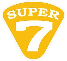 SUPER 7 Badge Cutout Number Photographic Print