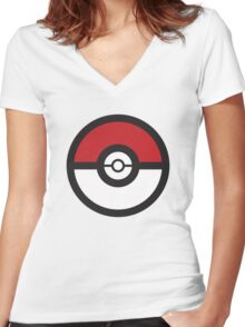 Pokémon GO Pokéball Squad by PokeGO Women's Fitted V-Neck T-Shirt