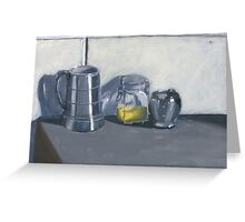 Black and White Still Life Greeting Card