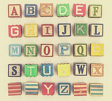 Vintage Alphabet by Debbra Obertanec