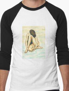 Female Nude Men's Baseball ¾ T-Shirt