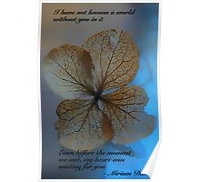Dried Hydrangea and Poem Poster