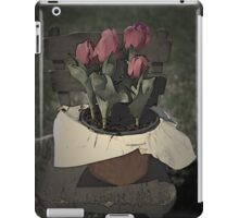 Tulips Setting on a Child's Wooden Chair iPad Case/Skin
