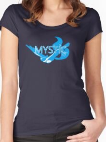 Stylized Team Mystic Print Women's Fitted Scoop T-Shirt