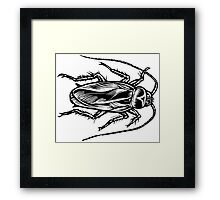 Cockroach (Top View) Framed Print