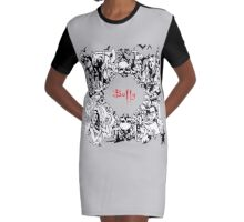 Slaying Graphic T-Shirt Dress
